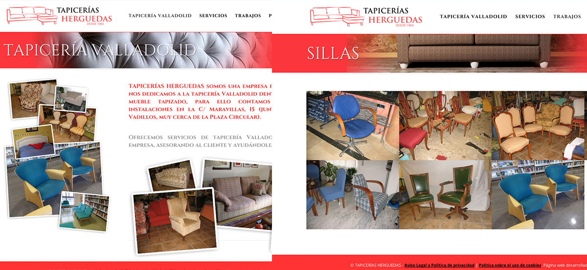 Web tapicer as herguedas invenzia - Tapicerias en valladolid ...
